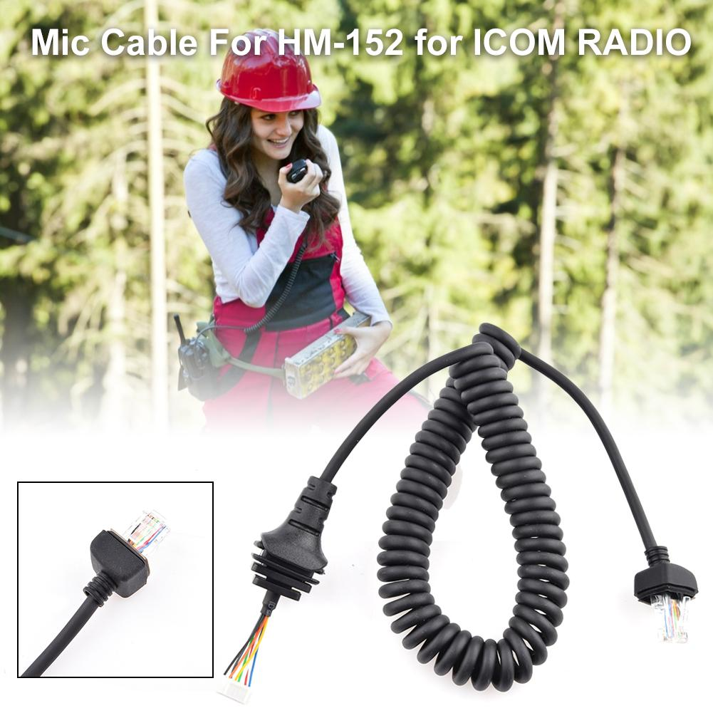 Handheld Microphone Cable Walkie Talkie Mic Cable For ICOM Radio IC-3600F1 IC-7000 IC-208H