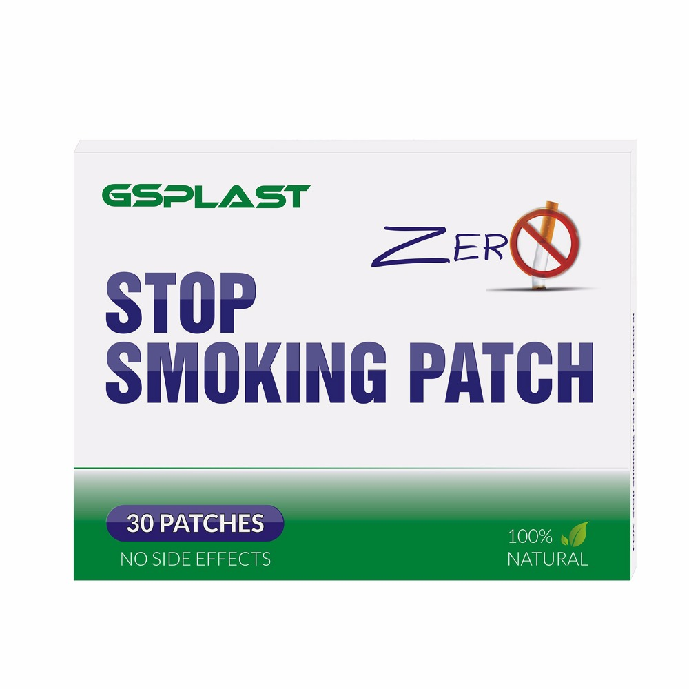 GSPLAST Anti-Smoke-Patch Cravings Nicotine Health-Care Defense Natural Herbal Patch/Box