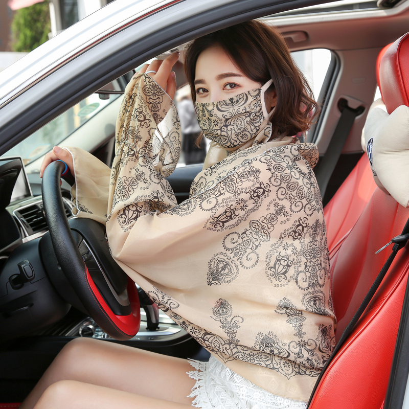 High Quality Ice Sleeve With Chiffon Arm Set Of Summer Driving Cuff Hand Cuff Cap Arm Warmers