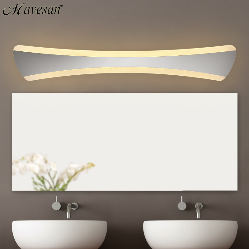 ФОТО Hot sale Bathroom LED Mirror wall Lamp AC220V/110V Acrylic Wall Mini Style Warm White/Cool White LED Wall Lamps without Switch