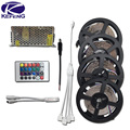 10M 15M 20M RGB LED Strip 3528 Non waterproof LED ribbon tape Set with 24Keys Remote Controller and DC 12V Adapter Power Supply