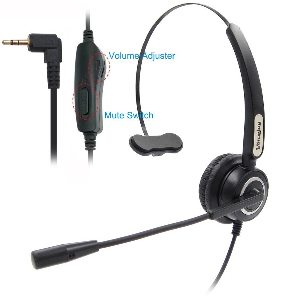 2 5mm Jack Headset Volune And Mute For Panasonic Cordless Phones And Polycom Grandstream Att Linksys Spa Zultys Gigaset Phones Phone Earphones Headphones Aliexpress