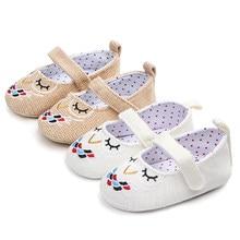 fc2ade349 Ideacherry مولود جديد الطفل فتاة أحذية الأميرة التطريز البومة لينة القطن الصغار  أحذية الرضع الاطفال وحيد