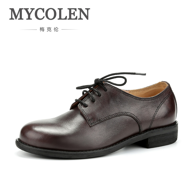 MYCOLEN Fashion Leather Black Male Dress Shoes Handmade Brand Luxury Men'S Business Casual Classic Zapatos De Hombre De Vestir mycolen luxury designer genuine leather business comfortable dress men shoes brogue classic mens shoes casual zapatos de vestir