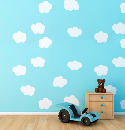 Customize vinyl cloth print white clouds photography backdrops for photo studio photographic backgrounds props CM-4426