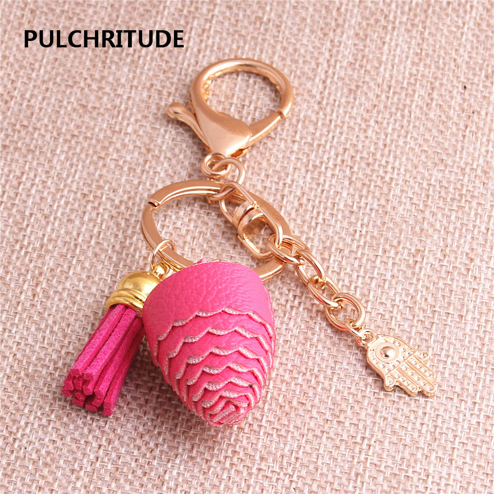 Jewelry Sets & More Pulchritude 2pcs Kc Gold Zinc Alloy Hamsa Hand Charm Lace Spinning Pendant Hand Made Diy Jewelry Key Ring Tassel Pendant C1123