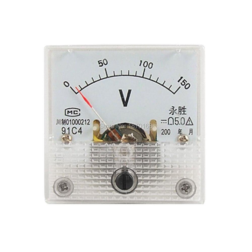 91C4 tikslaus reguliavimo ratukas, 150 V analoginės įtampos skydo matuoklio voltmetras