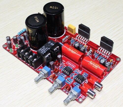 YJ LM3886 amplifier board dual AC26V 0 26V 2 0 channel NE5532 LM3886 amplifier luxury 68W
