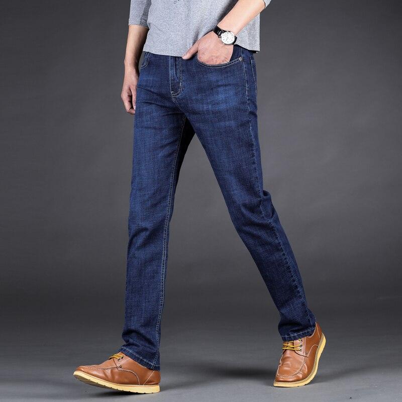 new luxury Mens brand black jeans men cotton skinny Slim Solid Casual Stretch Denim jean mens long Pants male