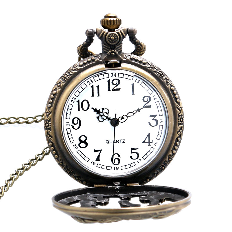 At Desen Pocket saat At Tasarım Noel Hediye Antik Pocket saat Kolye - Cep Saatleri - Fotoğraf 4