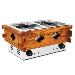 1pc Commercial Kanto cooking machine Stainless steel Guandong cook the machine electric heating string fragrance equipment 220v