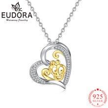 Ожерелье eudora из стерлингового серебра 925 пробы с подвеской