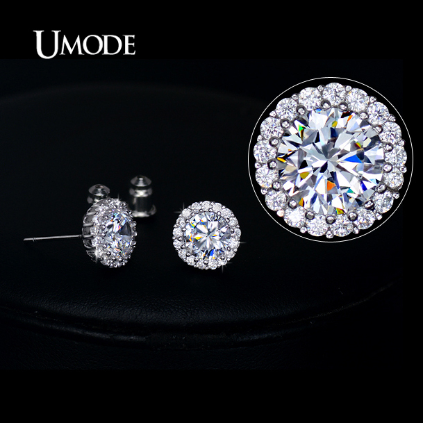 297b296ad UMODE Fashion Hearts & Arrows Perfect Cut Cubic Zirconia Crystal Stud  Earrings for Women Jewelry Drop Shipping 2016 UE0096
