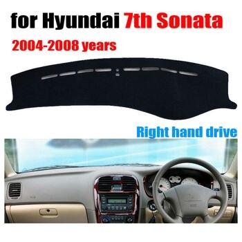 Araba dashboard kapak mat için Hyundai 7th Sonata 2004-2008 Sağ el sürücü dashmat pad dash kapak oto dashboard aksesuarları