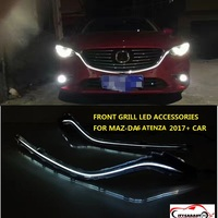Citycarauto LED спереди грили планки хрома Stying вытяжки крышка гонки гриль планки, пригодный для Mazda 6 Atenza 2017 2018 автомобилей
