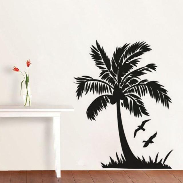 AWOO Kunst Wandaufkleber DIY Hauptdekorationen Fliegende Vogel Und Palme Wandtattoos  Wohnzimmer Dekorative Aufkleber
