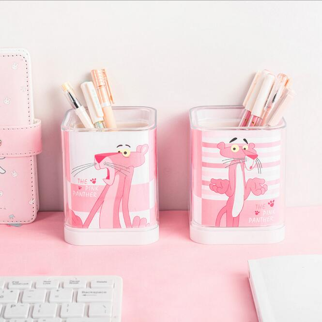 Lovely Kids Pen Holder Desk Storage Container Box Cover Pencil Case Girls Birthday Gift School Office Children Stationery