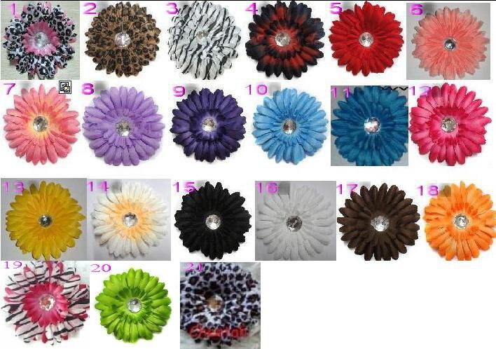500 шт., 1,5 дюймов, Gerbera, вязаная крючком лента для девочек, 4 дюйма, заколка для волос с ромашками, Цветочная повязка на голову, быстрая