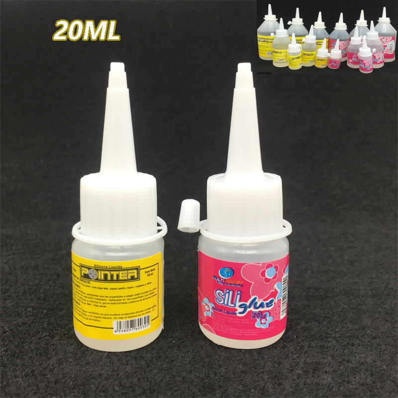 20ML Liquid Silicone Glue Textile Cloth Wood Fabric Plastic Cyanoacrylate Stationery Store Scrapbooking Accessory Tool Kids Bts