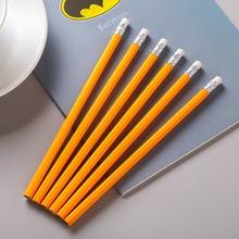 Orange minimalist pencil HB wooden sketch learning office writing pen school supplies