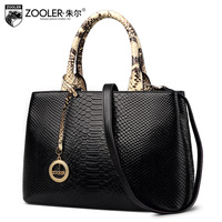 Продаж zooler 2017 Новый Натуральная кожа сумки Известные бренды Змеиный узор сумки Bolsa feminina роскошные женские сумки # F102