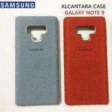 Новые оригинальные samsung Galaxy Note 9 SM-N9600 роскошные кожаные Алькантара Чехол замша полный защитный чехол для телефона анти стук