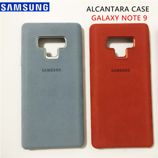 new products 9923d 25de7 US $10.92 61% OFF|Aliexpress.com : Buy New GENUINE Original Samsung Galaxy  Note 9 SM N9600 Luxury Leather Alcantara Case Suede Full protection Phone  ...