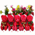 2 pcs/lot,Christmas red jointed Teddy Bear, Christmas joint bear, Christmas tree decorations, Christmas tree ornaments  t
