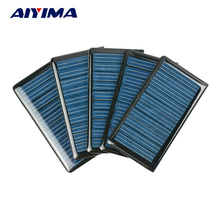 AIYIMA 10Pcs Solar Panels Solar Epoxy Plates Polycrystalline Spot 68x37MM 5V 60MA DIY Solar Battery Charger Painel Solars