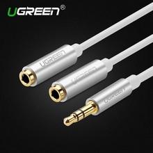 Ugreen аудио кабель разъем 3.5 мм мужской до 2 женский наушники кабель-удлинитель 3.5 мм для наушников splitter адаптер для iphone ноутбук