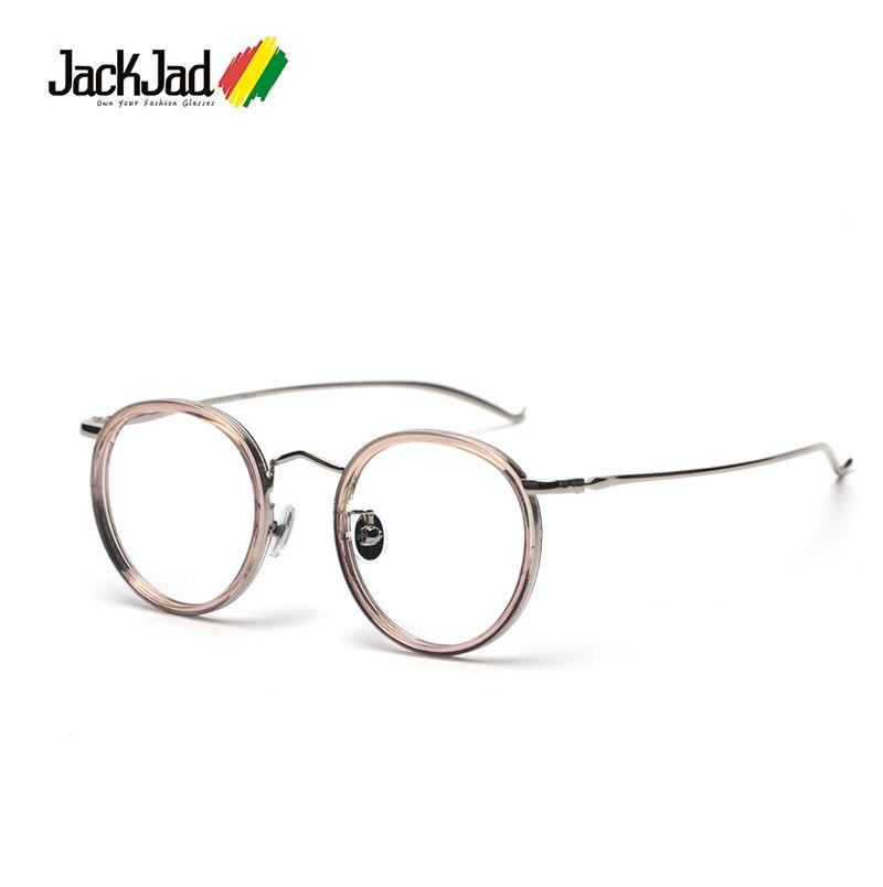 Jackjad moda vintage retro redondo metal quadro simples óculos clássico marca design óculos quadro óculos de grau 90026
