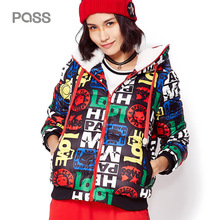 PASS 2017 New Down font b Jacket b font Hoodies Sweater Thicken Down Coats Patchwork Fashion