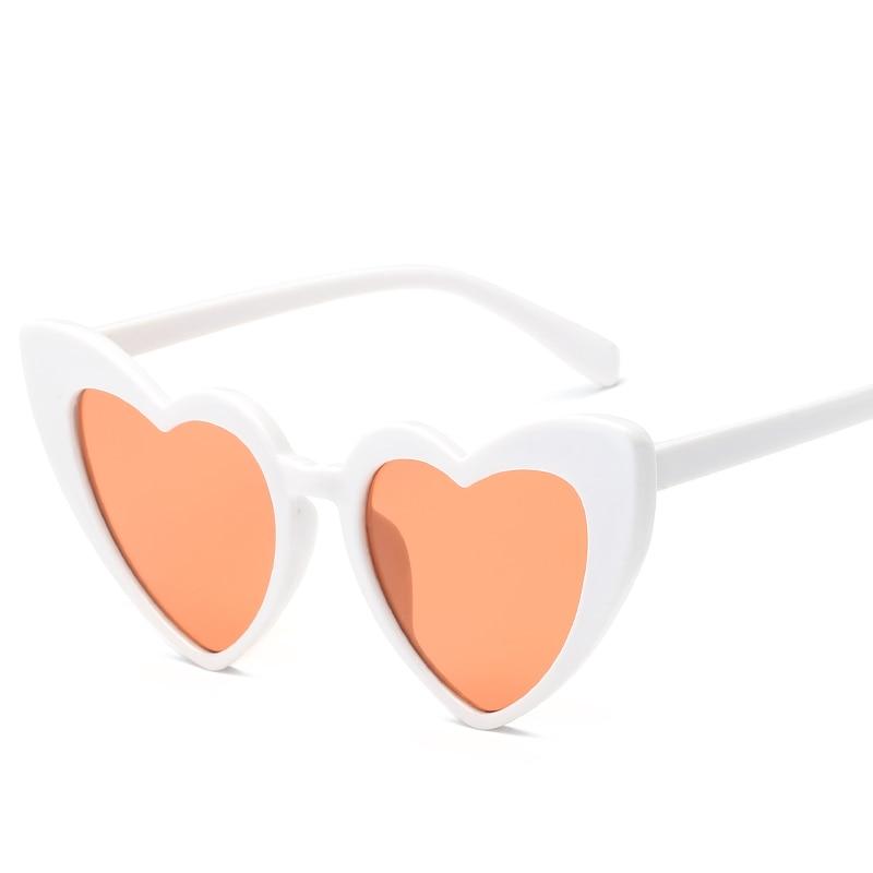 LOVE Heart Shape Sunglasses Ladies Womens Fashion Metal Frame Retro Sunnies New