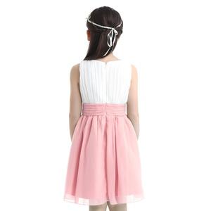 Image 3 - Iiniim ילדי העשרה שרוולים קפלים פרח ילדים שמלות בנות נסיכת שמלת חתונת Vestidos מסיבות יום הולדת שמלה
