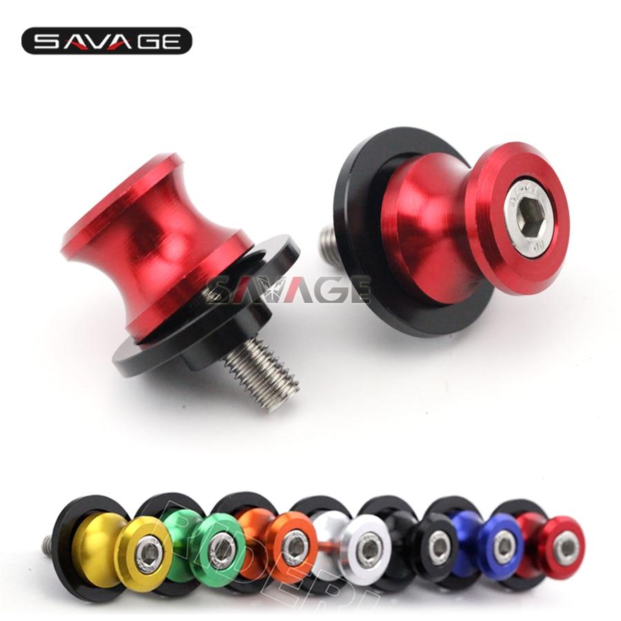 For SUZUKI GSR600 GSR750 GSX-S750 GSX-S1000 GSX-S1000F Motorcycle CNC Aluminum Swingarm Spools Slider Stand Screws M8