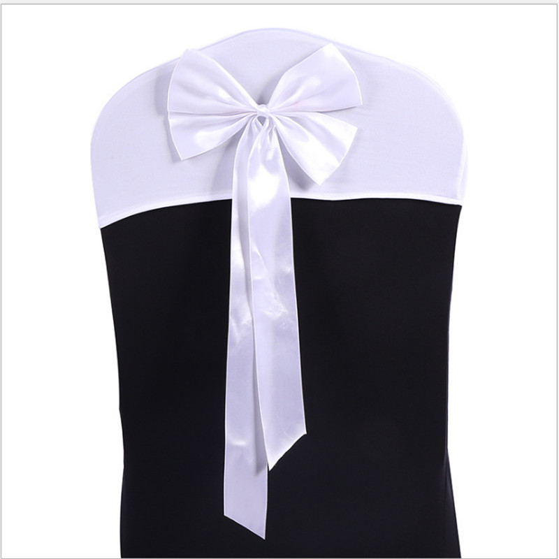 Free shipping !! 100pcs Spandex and satin chair Cover hood /for Wedding Banquet Party Decoration Event Chair Sashes