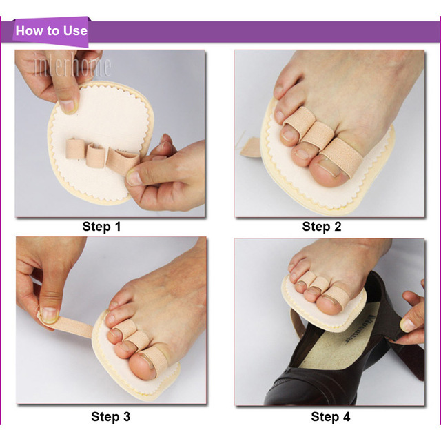 1 Pair Toes Overlap Hammer Toe Correction Pad Soft Bunion Splint Corrector Forefoot Mat Brace for Hallux Valgus Foot Care 3