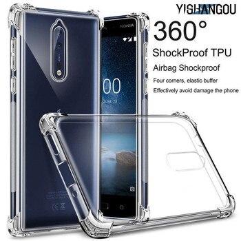 Перейти на Алиэкспресс и купить Противоударный прозрачный силиконовый чехол для Nokia X6 2,1 3,1 5,1 6,1 7,1 Plus 1 2 7 8 2018 2,2 3,2 4,2 тонкий мягкий чехол