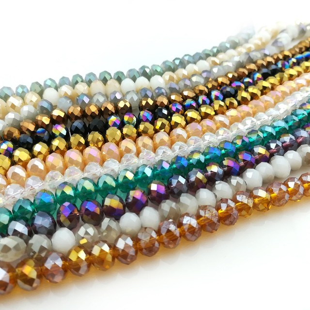 New Arrival 6mm Wheel Shape Faceted Crystal Loose Beads For Bracelets Necklace Diy 500pcs Lot
