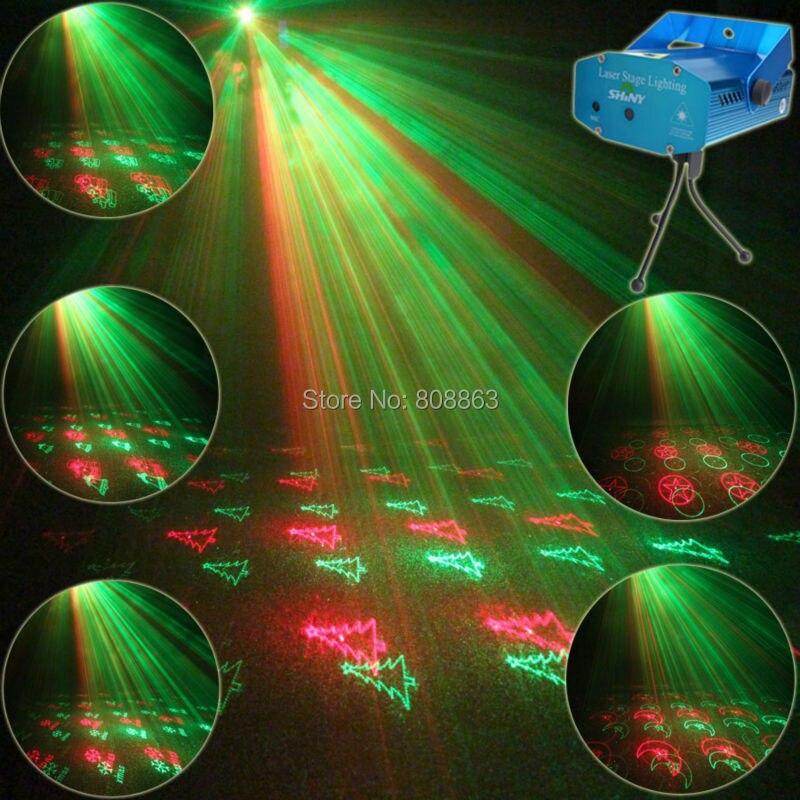 ESHINY Mini Red կանաչ լազերային պրոյեկտոր 20 Նախշերով Christmas Party DJ Lighting Lights Party Bar Dance Stage Light Show N85Y21