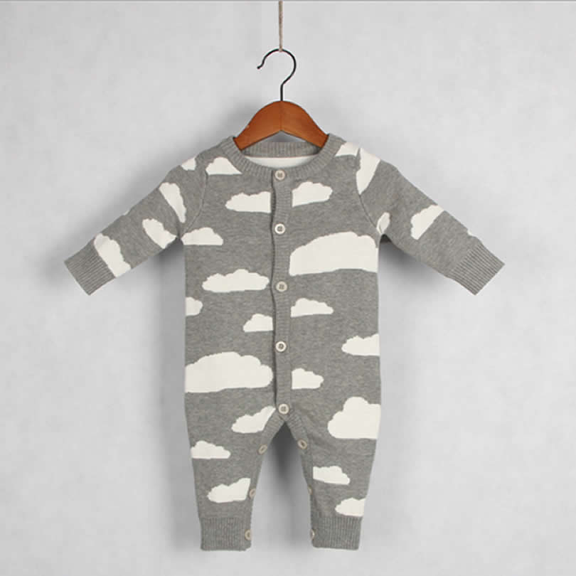 Otoño / Invierno Ropa para bebé de una sola pieza Nubes lindas - Ropa de bebé - foto 2