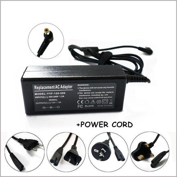 NEW 12 Volt DC Power Supply 5 Amp 5A 12V Adapter LCD CB