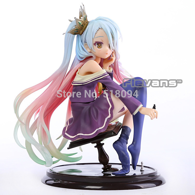 Anime NO GAME NO LIFE Shiro  1/7 Scale Complete Figure Collectible Model Toy 15CM SGFG215 15cm anime life no game no life shiro game of life 1 7 scale pvc action figure model toys