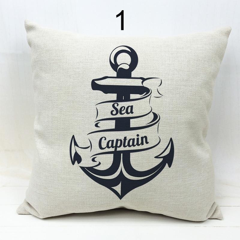 2016 Mediterranean Sea Voyager Ship Boat Anchor Pillowcase Cushion Cover Decorative Linen Cotton Throw Pillow Case 45*45cm