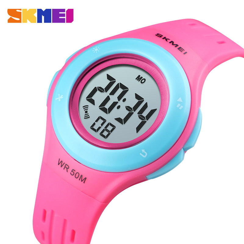 SKMEI Kids Watch LED Sport Style Children Watches Boy Girl Fashion Digital Watch 5Bar Waterproof Watch Montre Enfant 1455