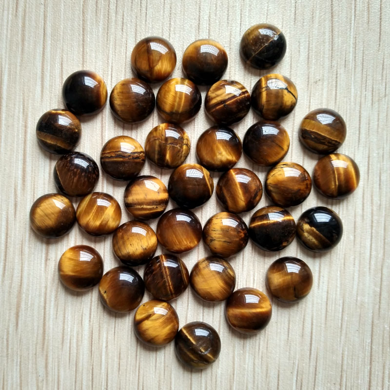 2016 fashion top quality natural tiger eye stone round shape CAB CABOCHON beads for jewelry Accessories 12mm wholesale 50pcs