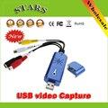 USB 2.0 Captura de Vídeo Com Áudio DC60 STK1160 TV DVD VHS para Conversor Adaptador USB Captura Grabber para Janela
