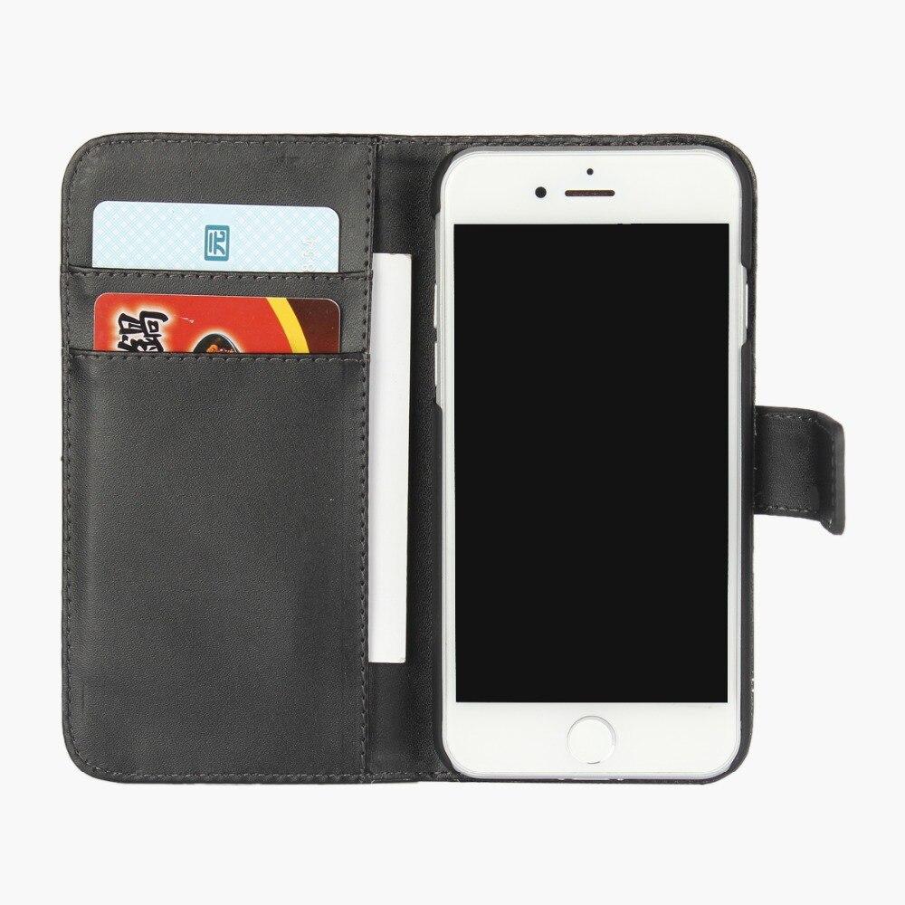 100 шт./лот для iPhone 7 чехол Бумажник Флип PU Кожа Книга кошелек Аксессуары для мобильных телефонов классической крышки для iPhone 7 Plus