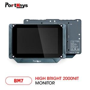 Монитор PortKeys BM7, 7 дюймов, супер яркий, 2000 нит, HDMI/3G-SDI, Full HD, на камере, с 3D LUT и HDR, предварительный просмотр, видеомонитор