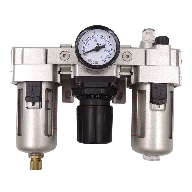 AC4000-04 G1/2 Standard Type   Air Source Treatment Unit Pneumatic Lubricator+Filter+RegulatorAC4000-04 G1/2 Standard Type   Air Source Treatment Unit Pneumatic Lubricator+Filter+Regulator